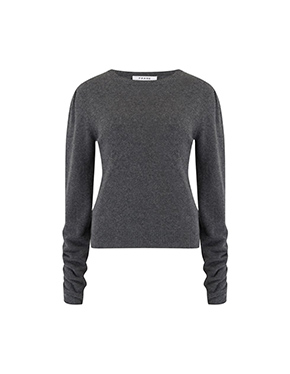 FRAME - Gabby Sweater In Dark Grey Heather