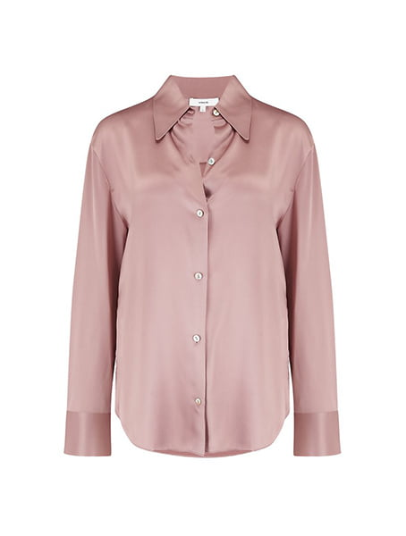 Vince - Shaped Collar Shirt In Mauve Orchid
