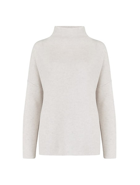 Vince - Funnel Neck Jumper In H White