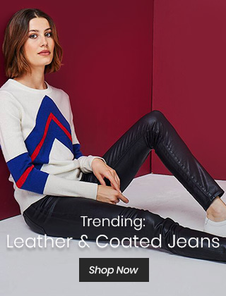 Trending: Leather & Coated Jeans
