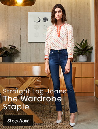 Straight Leg Jeans: The Wardrobe Staple