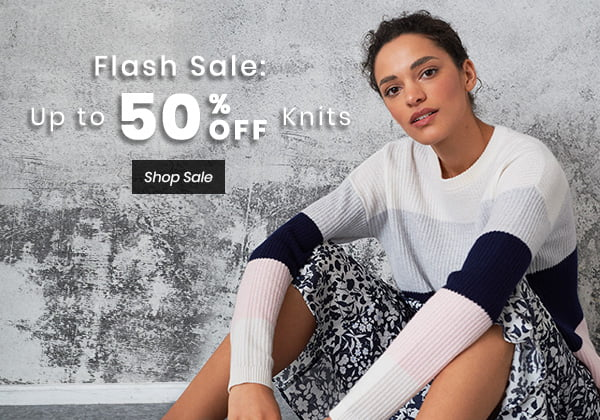 Flash Sale: Up to 50% Off Knits