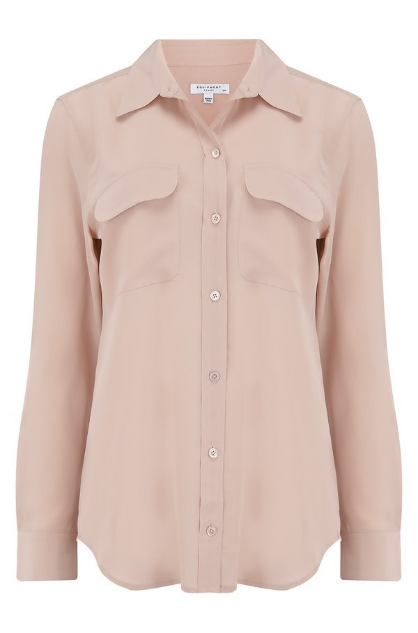 slim signature shirt in french nude