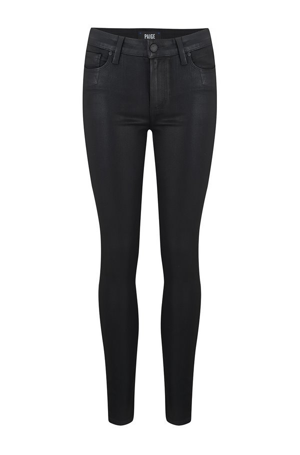 hoxton ankle jean in black fog coated