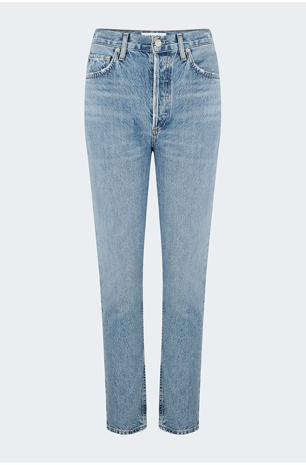 riley straight cropped jean in blur