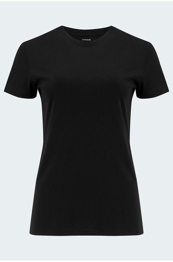essential crew t-shirt in black