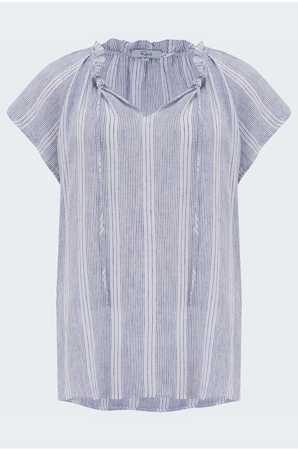 raven blouse in alameda stripe