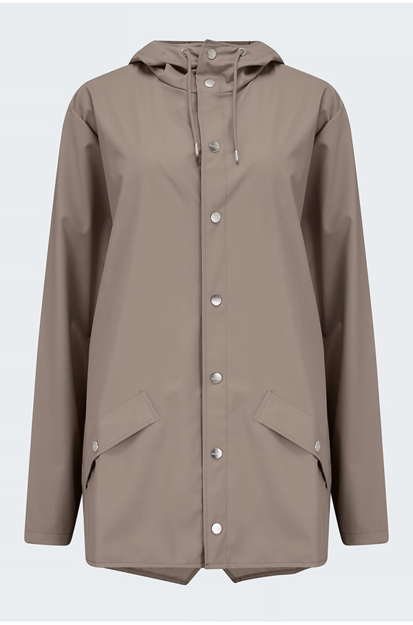 short jacket in taupe