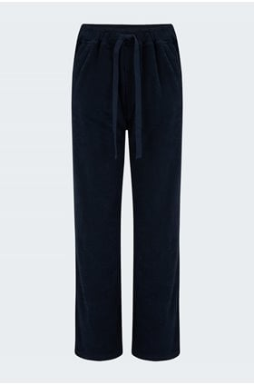 terry wide jogger in navy
