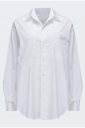kayla blouse in optic white