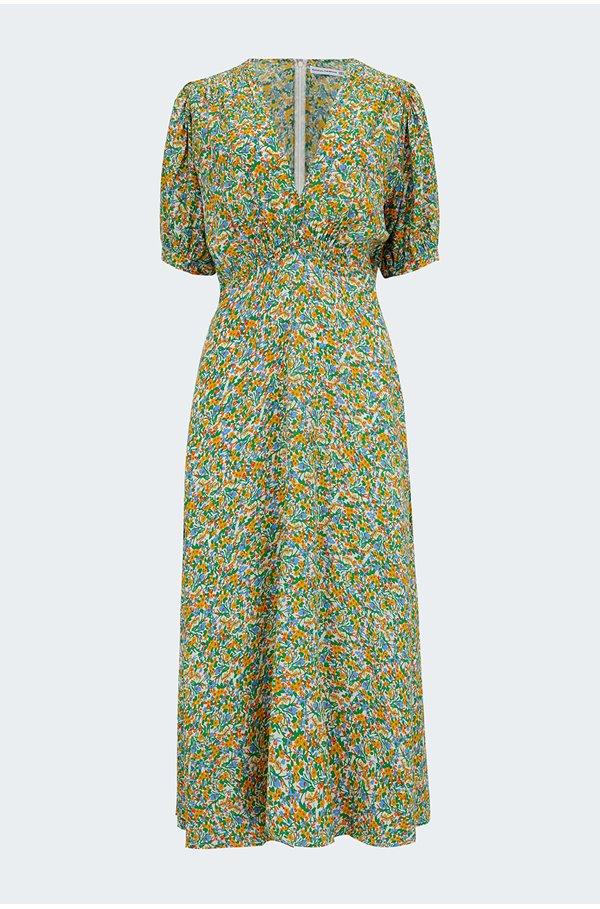 sonja midi dress in lynette floral print