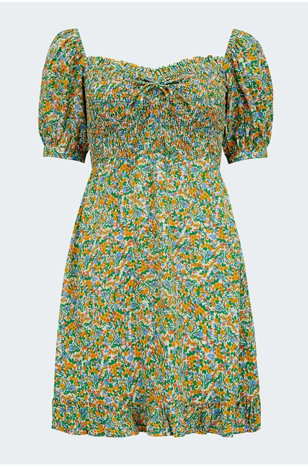 sasha mini dress in lynette floral print