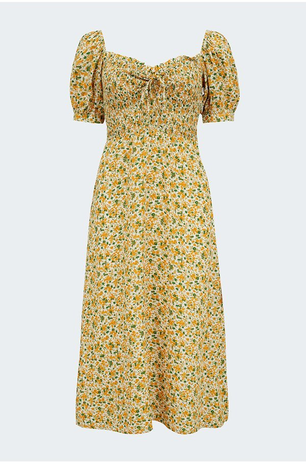 olympia midi dress in rosemary floral print