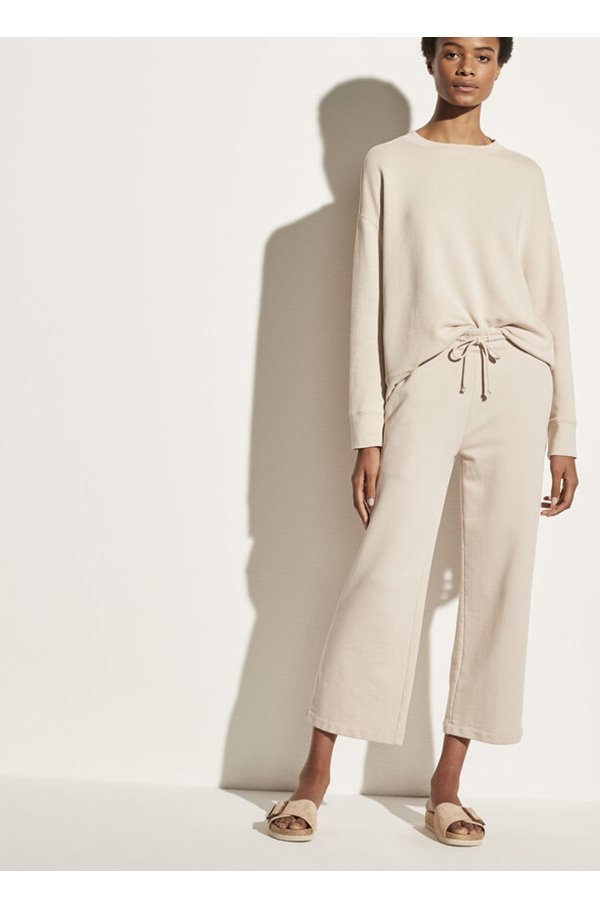 essential relaxed pullover in pale fawn