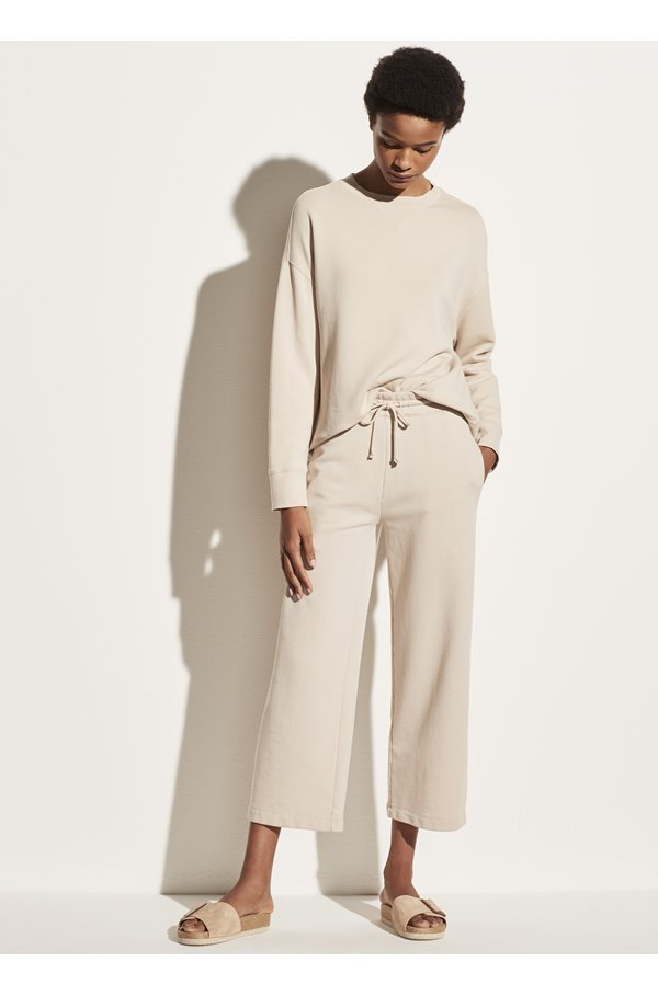 cropped pant in pale fawn