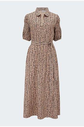 amelia dress in polka animal
