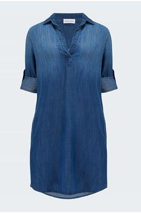 a line dress in dark ombre