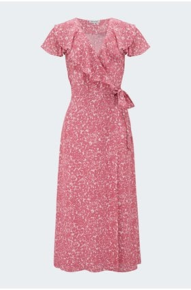 trixie dress in silhouette pink