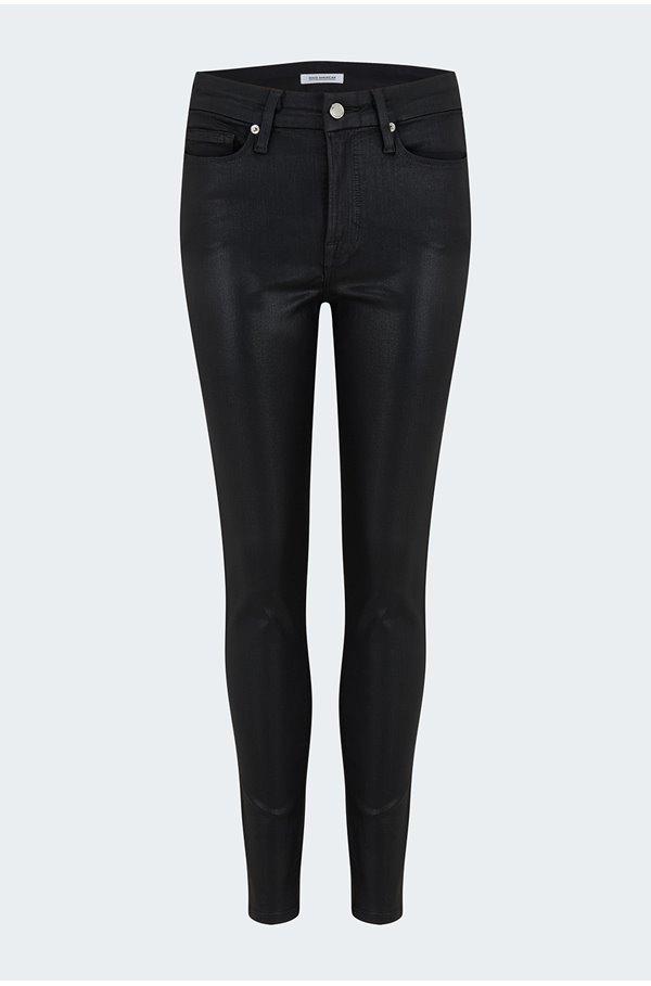 good legs jean in black 383 coated