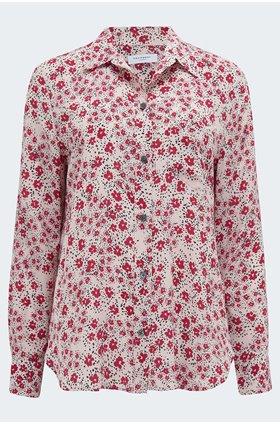 leema shirt in rose smoke multi