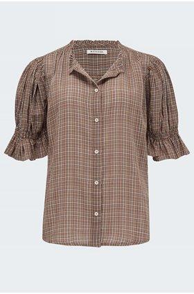 vika blouse in cinnamon
