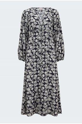 alicia fleur dress in black combo