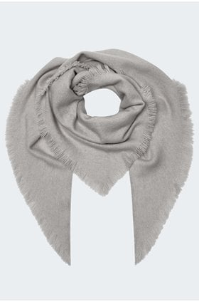 triangle scarf in grey