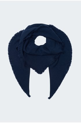 triangle scarf in navy