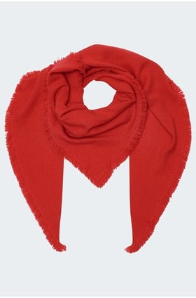 triangle scarf in rouge