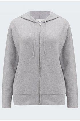 zip hoodie in grey