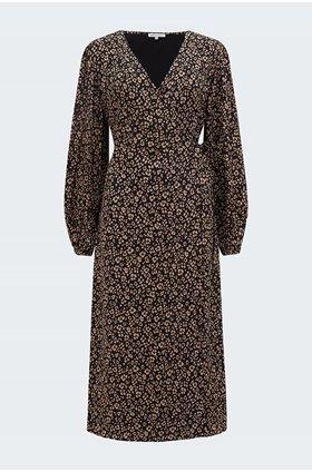 fifi floral leopard dress