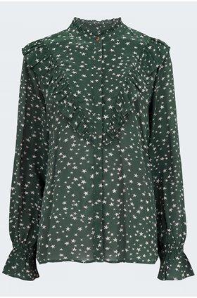 layla blouse in khaki stars