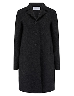 HARRIS WHARF LONDON - Boxy Coat In Anthracite