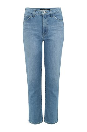 J Brand Jules High Rise Straight Leg Jean in Marcella