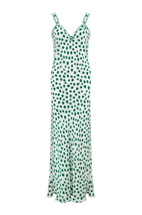 Romeo Dress in Green Tulip Spot