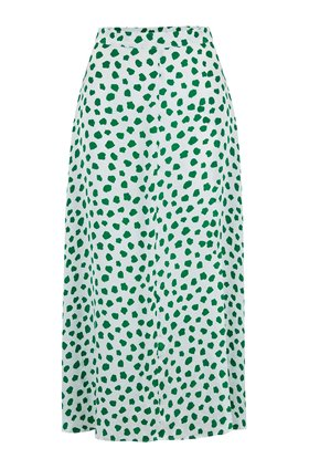 Kelly Skirt in Green Tulip Spot