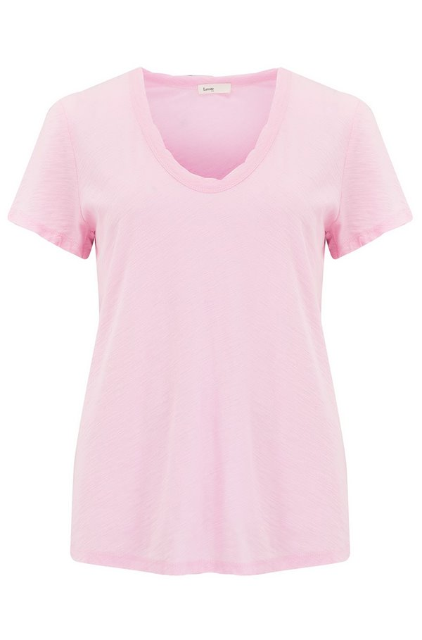 any scoop t-shirt in pink