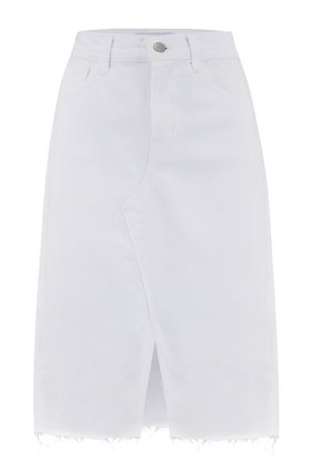 Trystan Denim Skirt in White