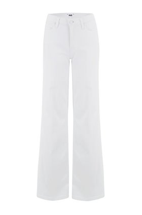 Paige Sutton Wide Leg Jean in Crisp White