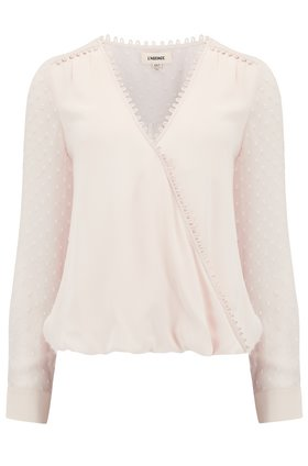 L'AGENCE Perry Pullover Blouse in Champagne