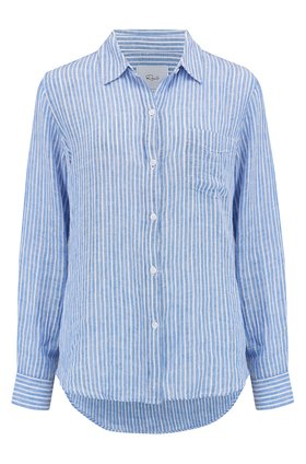 Rails Charli Shirt in Azure Stripe