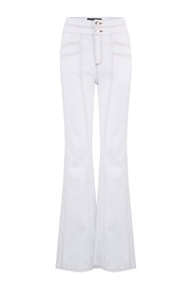 Veronica Beard Farrah Wide Leg Jean in White