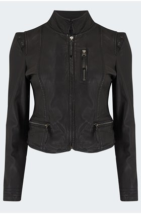 ruci leather jacket in black
