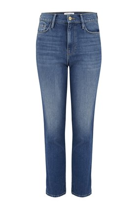 Frame Le Sylvie Straight Crop Jean in Marlin