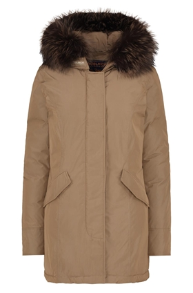 Woolrich Luxury Arctic Fox Parka in Taupe