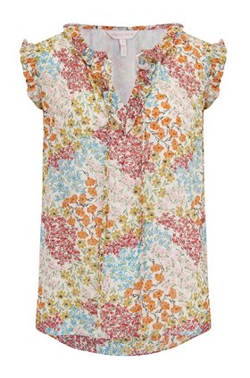 Rebecca Taylor Sleeveless Ava Top in Multi Combo