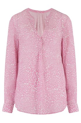 Trilogy Lucille Blouse in Pink Animal