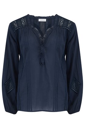 Velvet Hope Kaftan Top in Navy
