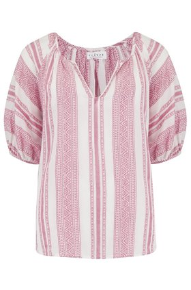 Velvet Halsey Kaftan Top in Pink