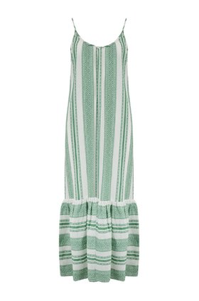 Velvet Lynda Maxi Dress in Green